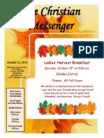 October 12 Newsletter
