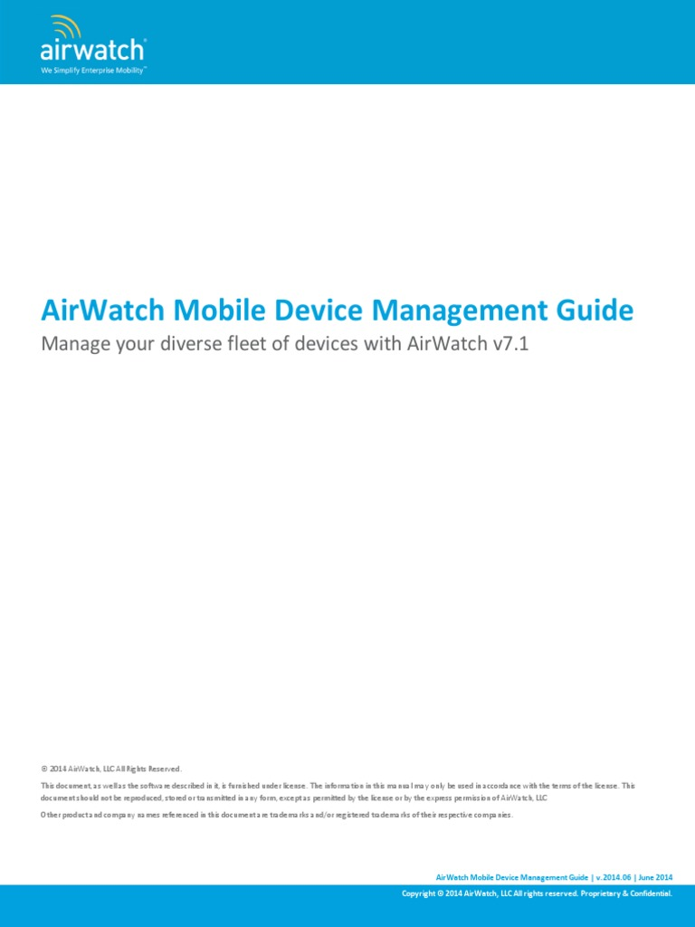 Airwatch mdm guide v7 email command line interface yadclub Gallery