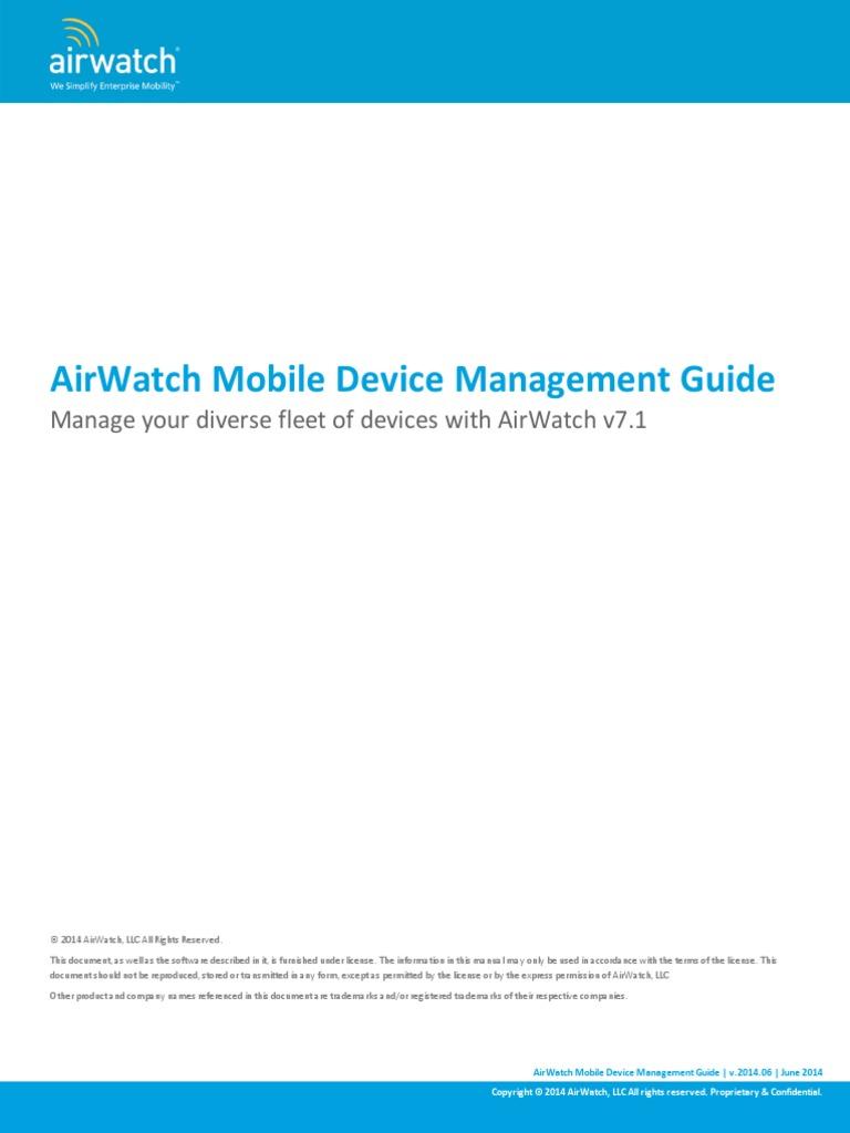 airwatch mdm guide v7 email command line interface rh scribd com