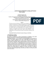 Virtual Learning Environments, Blended Learning and Teacher Intervention
