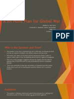 a six point plan for global war