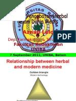 20110907-Uniba-batam-Peranan Pengobatan Herbal Dalam Dunia Medis FINAL