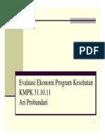 Evaluasi Ekonomi Program Kesehatan 311011