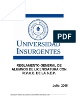 Universidad Insurgentes Licenciatura SEP