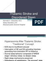 Thalamic Stroke and Disordered Sleep Guest Lecture