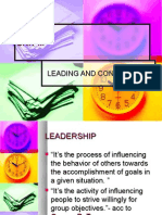 Leading and Controlling