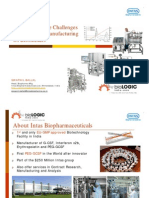 Overcoming the challenges in advancing  manufacturing of biosimilars