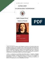 Alfred Jarry Patafisica  Dr. Adolfo Vasquez Rocca