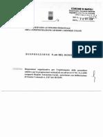 Comune di Napoli - Disposizione n.608 del 10/10/2014 avente per oggetto