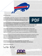 Pegula Letter to Bills Fans