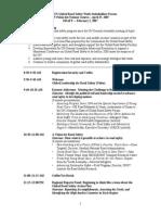 DRAFT Agenda Geneva Stakeholders Forum 020207