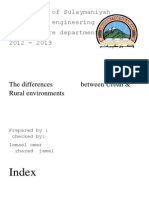 1-The Differences Between Urban & Rural Environments