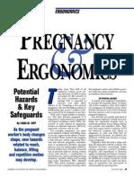 Pregnancy and Ergonomics Potential Hazarsd and Key Safeguards