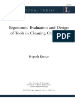 Ergonomic Evaluation and Design of Tools in Cleaning Occupation