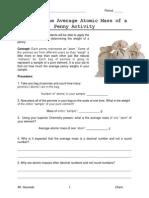 activity penny atomic mass