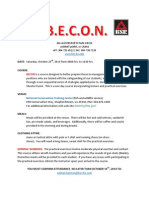 BECON Course Event Flyer