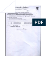 BSc(Hons) Applied Management 2014 - 2nd Merit List
