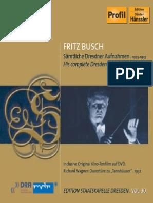 Fritz Busch In Dresden Pdf