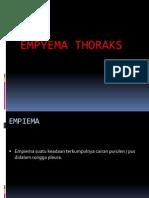 Empyema Thorax