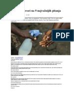 Ebola Odgovori Na 9 Najvažnijih Pitanja