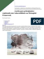 Revista .Seguridad - Pruebas de penetración para principiantes- explotando una vulnerabilidad con Metasploit Framework - 2013-09-26.pdf