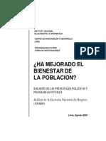 Bienestar Poblacion Peru