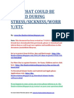 Duas for Stress and Sickness