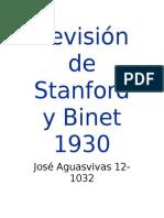 Revisión Stanford Binet 2003
