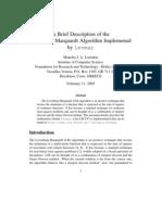 A Brief Description of the Levenberg-Marquardt Algorithm Implemened by Levmar