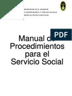 MANUAL DE PROCEDIMIENTOS PARA EL SERVICIO SOCIAL.doc