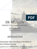 Schleiermacher on Religion
