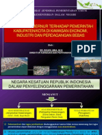 Fasilitasi Gubernur terhadap Pemerintah Kabupaten/Kota di Kawasan Ekonomi, Industri dan Perdagangan Bebas