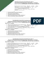 Question Paper Unit Test 1