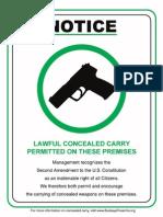 Pro CCW Sign
