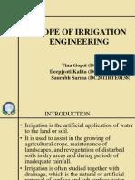 Scope of Irrigation Engineering