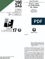 Ensayo sobre un Proletariado sin cabeza - Jose Revueltas.pdf