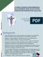 Risk of Developing Sudden Sensorineural Hearing Loss.ppt