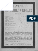 Rev Fundatiilor Regale  - 1934 -  11, 1 nov   = revista lunara de literatura, arta si cultura generala