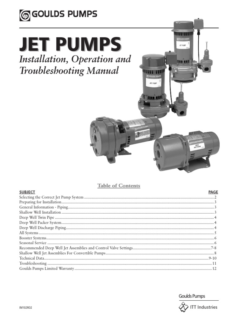 jet pump installation pump