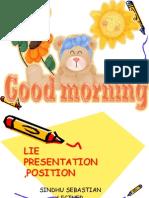 Lie ,Presentation Position for 3rd Bsc 2014