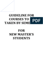 Study Plan for Masters Student Taught Course Mix Mode