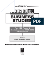 Business Studies 2012 HSC with answer