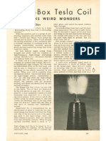 Cigar-box Tesla Coil - Popular Science January 1946
