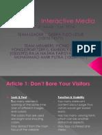 interactive media slides