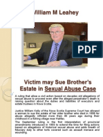 William M Leahey - Abuse Case