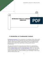 Introduction of Fundamental Analysis