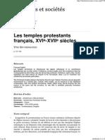 Les temples protestants français, XVIe-XVIIe siècles.pdf