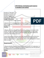 cross curricular pathway - pupil response to feedback and marking