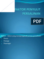 FAKTOR PENYULIT PERSALINAN
