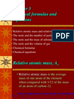 3A Relative Atomic Mass and Re(1) f4